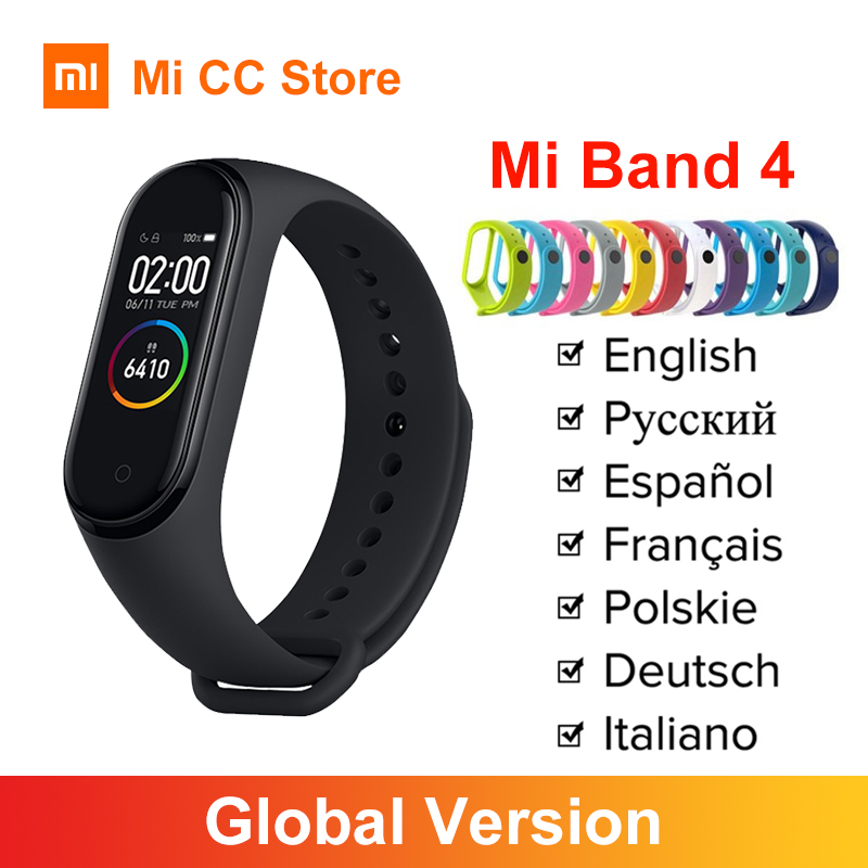 Global Version Xiaomi Mi Band 4 Wristband Heart Rate Fitness Tracker Bluetooth 5 0 Sport Waterproof Bracelet Miband 4