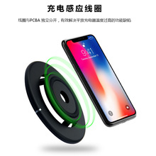 Double Layer Qi Wireless Charger Pad for iPhone XS XR 8 AirPods 10W Dual Fast Charging Dock Station For Samsung S10 S9 S8 Note 9