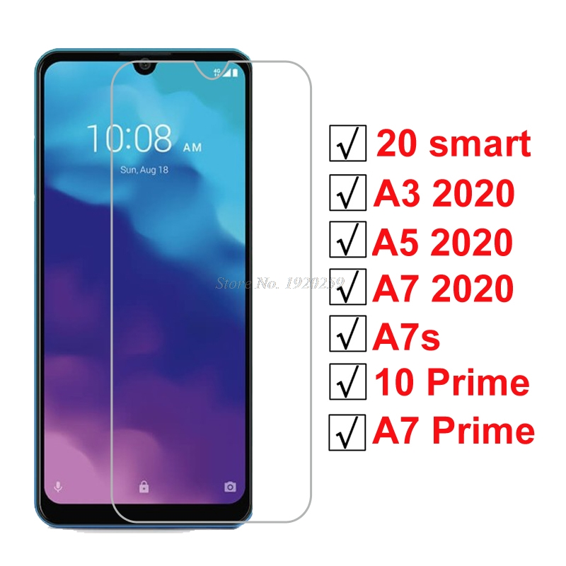 Tempered Glass For ZTE Blade 20 Smart A3 A5 A7 A7s 2020 Screen Protector On Blade A7 10 Prime Protective Glass Screen Glass Film