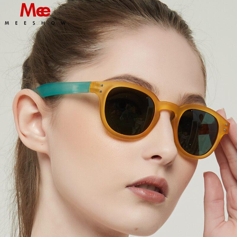 Meeshow Sonnenbrille 2020 NEUE ANKUNFT Retro Männer Gläser Europa Stil Qualität Frauen Sonnenbrille UV400 Schutz Sonnenbrillen 1513