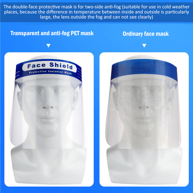 5/10/30pcs Splash-Proof Protective Face Shield Reusable Full Face Protective Mask Saliva Protection Clear Visor Respirator 5