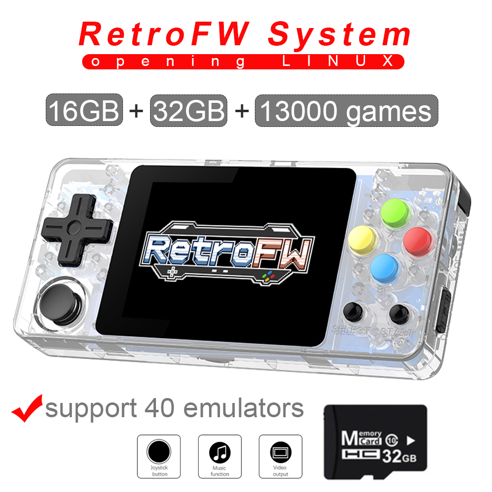 New LDK game console 2 7inch LINUX RetroFW system DIY retro game Video player 48GB built