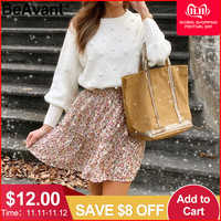 BeAvant tricoté hiver pull femmes pull lanterne manches dames chandails femme minimaliste pull femme doux blanc pull
