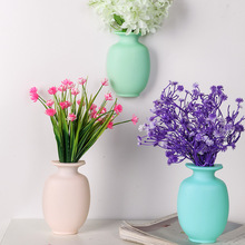 1PC DIY Nano Magic Rubber Silicone Sticky Flower Vase Wall Hang Container Floret Bottle Decoration Home Vases
