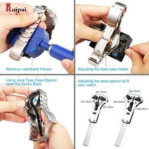 Image 4 - RUIPAI 14pc Watchmaker Watch Link Pin Remover Case Opener Repair Tool Kit  Spring Bar Remover Horlogemaker Gereedschap