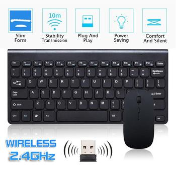 Erilles New Wireless Keyboard Mouse Combo Set Keyboard 2.4G Rechargeable Multi System Compatible Wireless Portable Keyboard 2 4g wireless keyboard and mouse combo orsolya whisper quiet english german de italian it layout keyboard rose gold silver