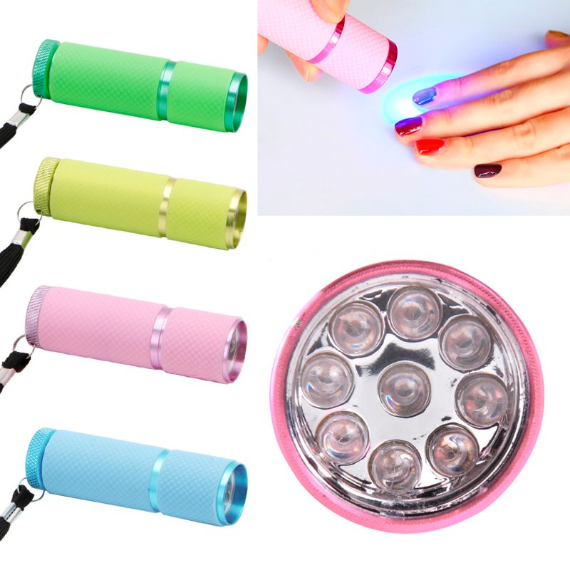 9W UV Flashlight 9 Led Ultra Violet Torch Light 395NW UV GEL Curing Lamp Epoxy UV Resin Cure Adhesive Glue Jewelry Tools