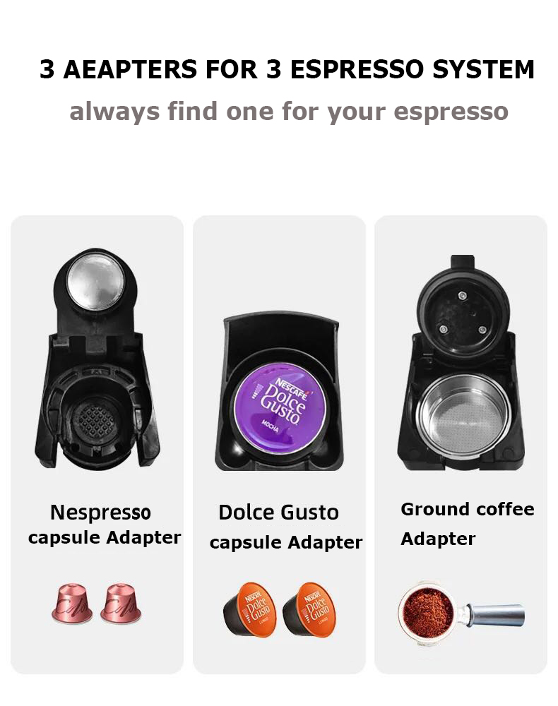HiBREW Espresso Capsule Coffee Machine 3-In-1