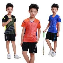 Boy Girl sports Tennis Jersey shorts children sportswear, tenis masculino,table tennis t shirt,tennis Badminton sport shirt Kits