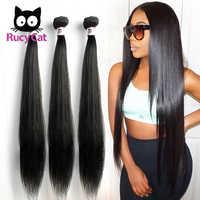 Rucycat Steil Haar Peruaanse Haar Weave Bundels 100% Remy Human Hair Bundels 1/3/4/Lot Haar 30 32 34 36 40 Inch