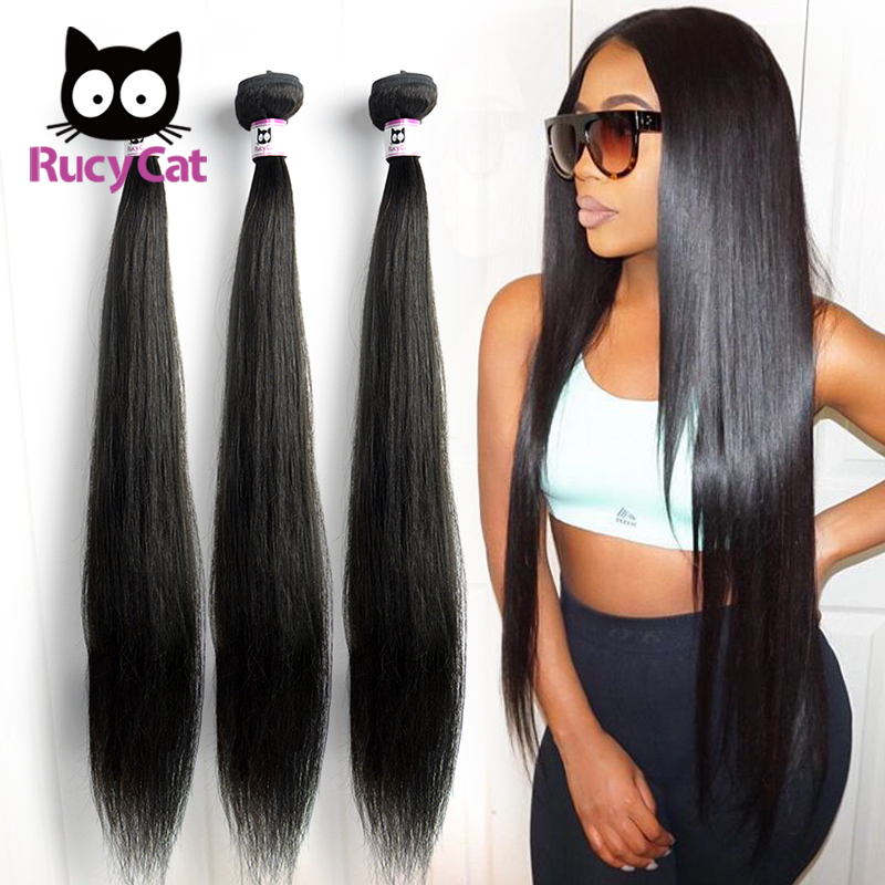 Rucycat Straight Hair Peruvian Hair Weave Bundles 100% Remy Human Hair Bundles 1/3/4/Lot Hair <font><b>30</b></font> <font><b>32</b></font> 34 <font><b>36</b></font> <font><b>40</b></font> Inch image