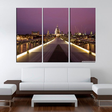 Photo Picture Millennium Bridge and St Pauls Room Decor Cities Canvas Art Painting Living Bedroom