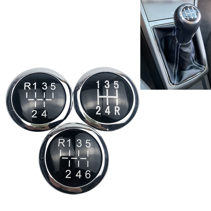 5/6 Speed Car Gear Shift Knob Emblem Badge Cap Top Cover For VAUXHALL OPEL ASTRA III H CORSA D 2004-2010 Car Styling Accessories title=