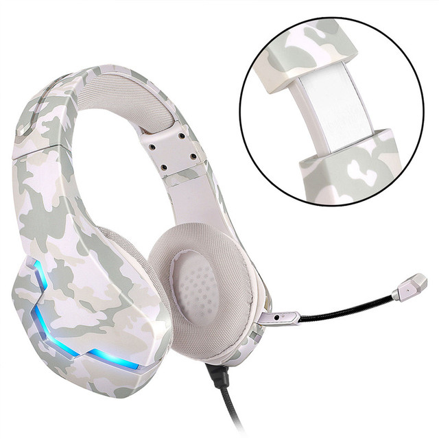 Led Light Gaming Headphones Computer Professional Adjustable Bass Stereo PC Over Ear Wired Headset with Microphone Laptop Gamer