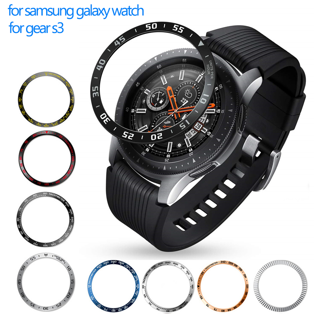 Metal cover For Samsung Galaxy Watch 46mm/42mm/Gear S3 Frontier/Classic sport galaxy watch Adhesive Cover band strap Accessories