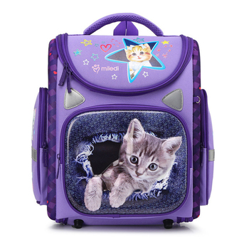 Nueva moda para chicas mochilas escolares impermeables con Gato de dibujos animados para niños mochilas escolares ortopédicas para niños de 1 a 5 grados Mochila Escolar