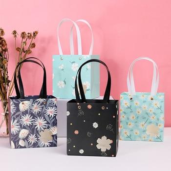 AVEBIEN-Bolsa de regalo con flores de margaritas, 12 Uds., caja de regalo...