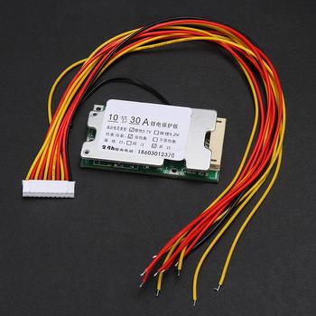 10 S 36 V 30A akumulator litowo-jonowy płyta ochronna litowo-jonowy 18650 baterii ochrony BMS płytki PCB z wagą do elektryczny falownik samochodowy tanie i dobre opinie Elektryczne CN (pochodzenie) Other Li-ion Protection Board