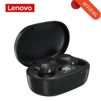 אוזניות סטריאו בלוטוס Lenovo עם תיבת טעינה בעלת חיווי לבטריה 1