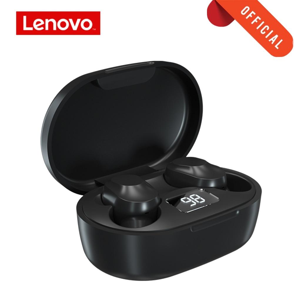 Lenovo XT91-auriculares TWS, originales, auriculares estéreo de graves con micrófono y reducción de ruido auriculares inalámbricos con Bluetooth Control IA para videojuegos