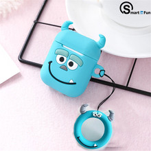 For AirPods TWS silicone Case Cute Cartoon funny i11 i10 i12 i9s Earphone Cover funda For Air pods 2 Headphone case(China)