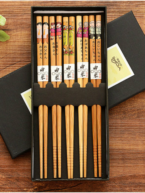 Фото 20 пар многоразовых палочек ручной работы из бамбука и натурального