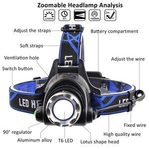 Image 2 - ไฟหน้าแบบLED Super Bright LEDโคมไฟตกปลาไฟหน้า3โหมดใช้สำหรับผจญภัยตั้งแคมป์ล่าสัตว์ฯลฯ18650
