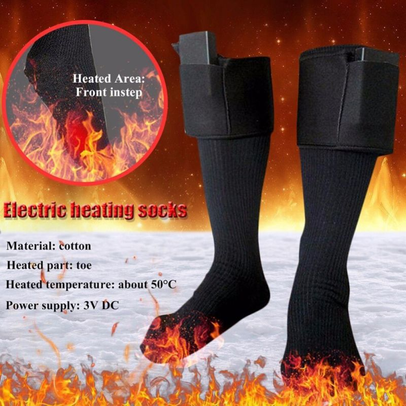 New Thickened Warm Electrically Heated Socks Rechargeable Battery Winter Skiing Cycling Socks Women And Men