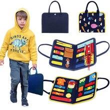Bebê puzzle educação brinquedo habilidades básicas criança atividade placa para habilidades motoras finas aprender a vestir brinquedos de aprendizagem educacional