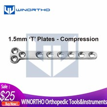 1.5mm DCP dynaminc compression T plates pet surgical tools and veterinary orthopedic  instruments