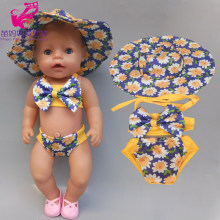 Sale Doll Clothes 43cm Baby Doll Rompers for 18 Inch Girl Doll Bikini Doll Toys Clothing(China)
