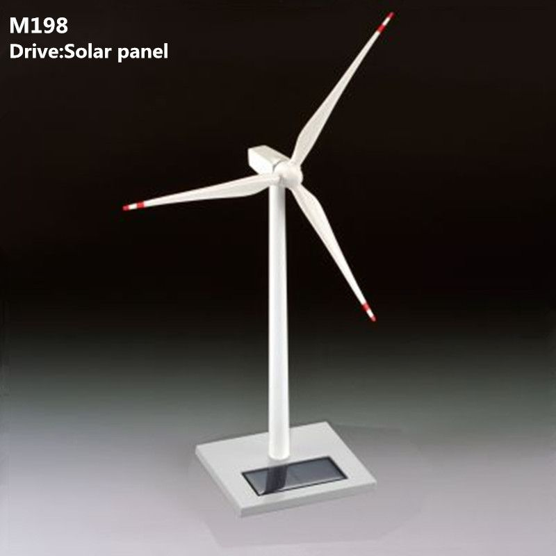 Solar Wind Generator Windmill Model Education Desk Creative Gift Metal Decoration Gift Commemorative Crafts