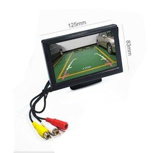 """Image 2 - شاشة سيارة 5 بوصة TFT LCD 5 """"HD الرقمية 16:9 800*480 شاشة 2 طريقة إدخال الفيديو لعكس كاميرا الرؤية الخلفية DVD VCD"""