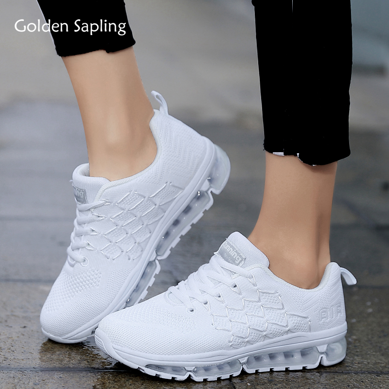 Golden Sapling Breathable Women's Sneakers Summer Air Knit Fabric Running Shoes For Women GYM Cushioning Trail Run Sports Shoes