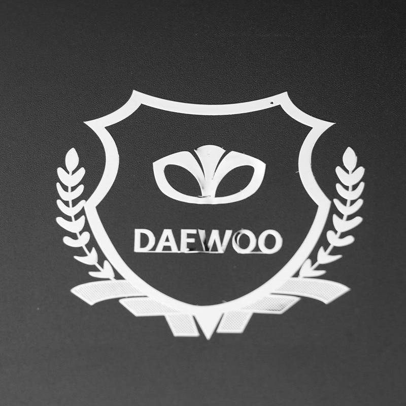 2PCS Excellent 3D Metal Car Sticker Emblem Badge Case For Daewoo Logo Winstom Espero Nexia Matiz Lanos ]Accessories Car Styling