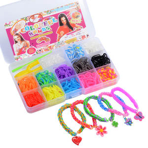 600 pieces Rainbow Rubber Bands Weaving set DIY Toys Loom Craft Kid Bracelet DIY Accessories