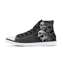 Cool Skull Print High Top Canvas Shoes for Man Unique Custom