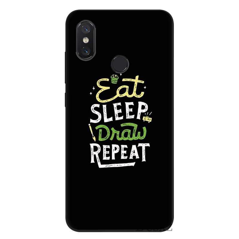 Etui na telefon komórkowy Tpu dla Xiaomi Redmi uwaga 4 4X5 6 7 Pro 5A pokrywa jeść chwastów snu muzyka wzór powłoki