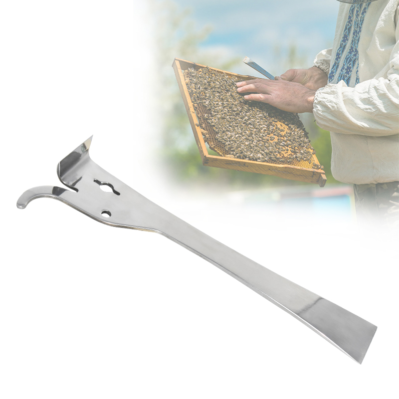 Multifunction Bee Tools Stainless Steel Thumb Type Bee Honey Knife Bee Hive Scraper Beekeeping Bee Scraper Cut