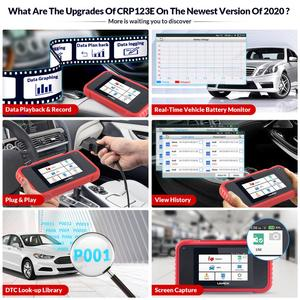 Image 3 - LAUNCH X431 CRP123E OBD2 Code Reader For Engine Airbag SRS Transmission OBDII diagnostic tool x431 CRP123 E Free Update lifetime