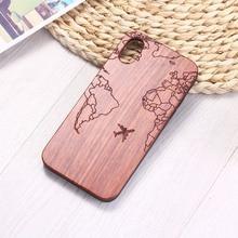 Чехол для телефона iPhone 6S 6Plus 7 7Plus 8 8Plus XR X XS Max 11 Pro Max с гравировкой для паспорта, полета, путешествия, Карта мира, деревянный чехол для телефона