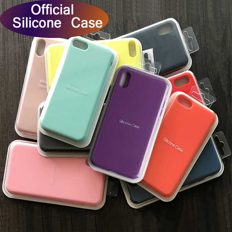 Luxury <font><b>Original</b></font> Official <font><b>Silicone</b></font> No LOGO <font><b>Case</b></font> For <font><b>iPhone</b></font> 8Plus Liquid <font><b>Case</b></font> For Apple <font><b>iPhone</b></font> se 2020 11 Pro XS Max XR <font><b>Case</b></font> Funda image