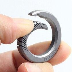Real titanium luxo chaveiro masculino feminino ultra leve edc elasticidade chaveiro titular fivela presente para casais
