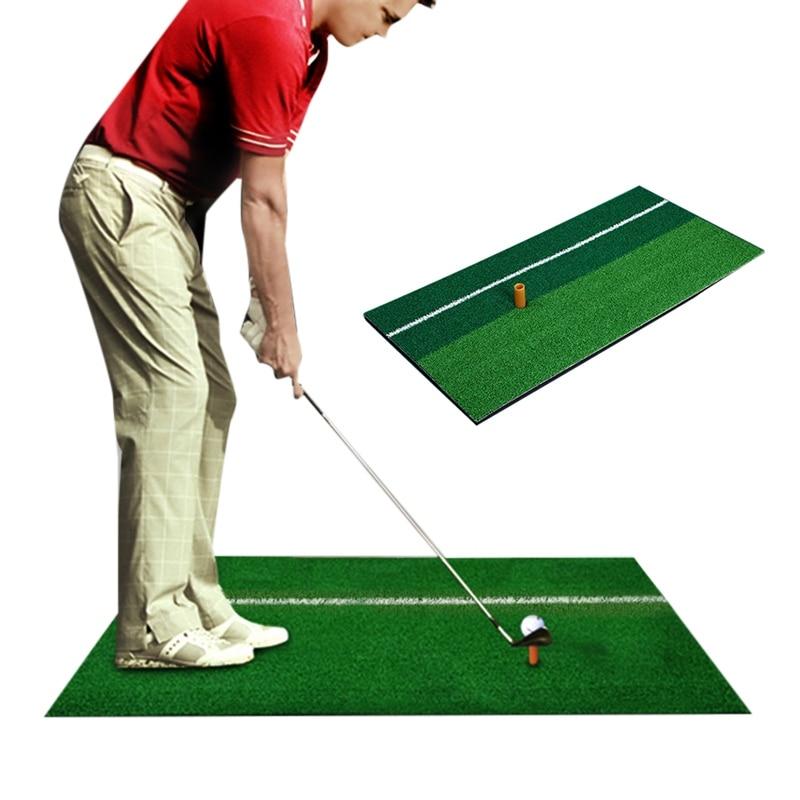 2019 Indoor Golf Mat Training Hitting Pad Practice Rubber Grass Mat Grassroots Green Golf Training Tools Backyard 30x60cm