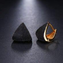 Pendientes de dos tonos delicados Vintage para mujer, joyas negras originales, pendientes de broche para boda, joyería 2020