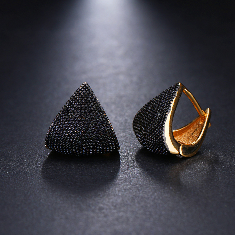 New Fashion Delicate Silver Color Vintage Earrings Two Tone Originality Black Wedding Earrings For Women Jewelry серьги черные