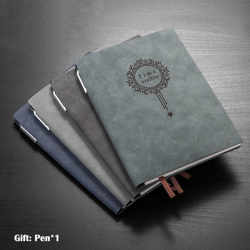 Quality Sheep Leather Cover Vintage Notepad Notebook Diary Daily Memos Planner Agenda Bujo Diary Notebook Pu Leather Sketchbook