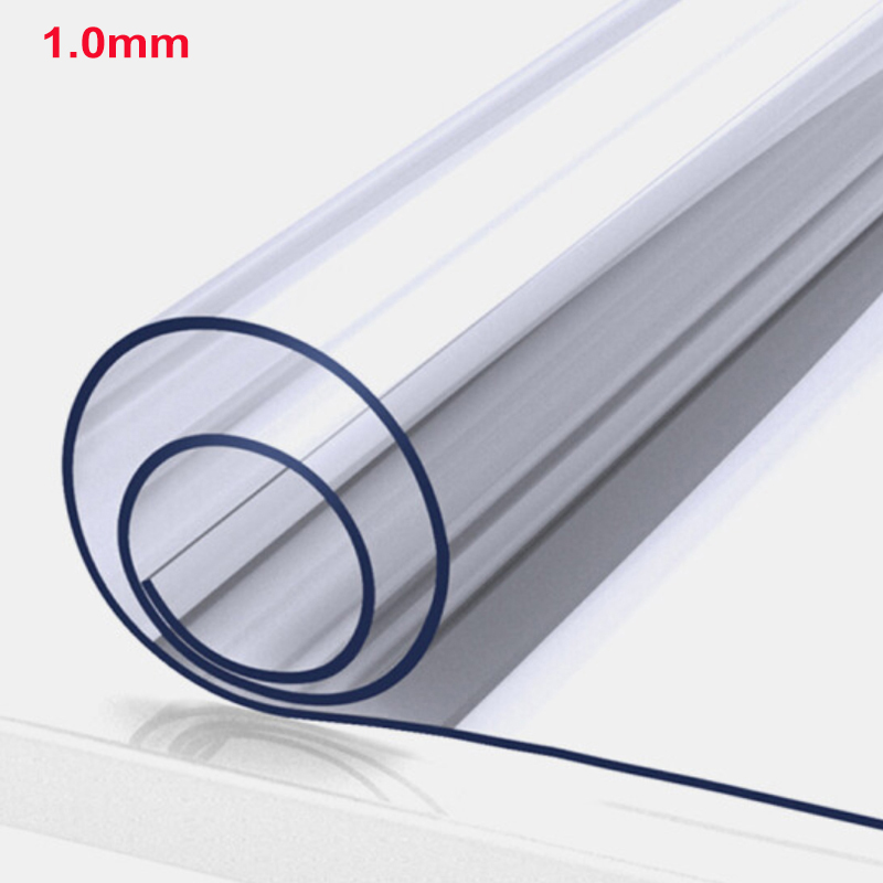 PVC Table Cloth Transparent D' Waterproof Tablecloth Oil Tablecloth With Kitchen Pattern Glass Soft Cloth Table Cover 1.0 Mm
