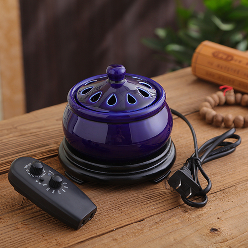 Timing Electric Plug Ceramic Perfume Diffuser Aromatherapy Furnace Powder Incense Essential Oil Aroma Burner Decor 220V A