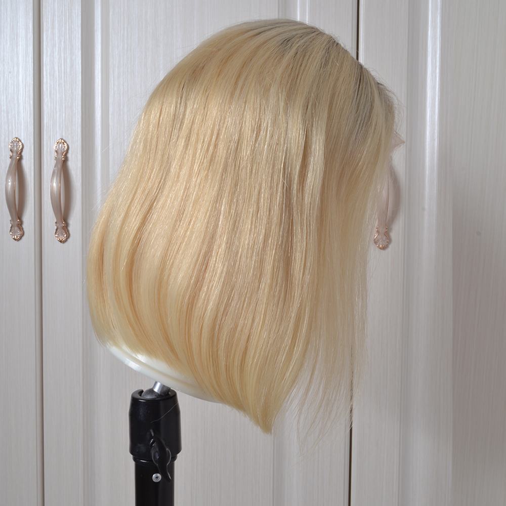 Yeahwigs 613 Lace Front Wig Preplucked Colored Human Hair Wig Blonde Bob Wig With Baby Hair